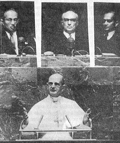 Montini a.k.a. Antipope Paul VI at the 