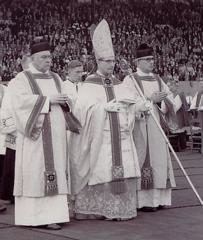 Cardinal Siri at the World's Fair in 1958 prior to His Election as Pope Gregory XVII
