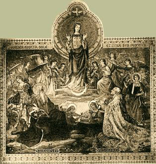 Picture of Pope Pius IX Praying to The Immaculate Conception
