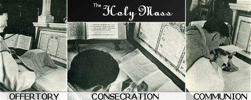 The Mass consists of three important and necessary parts, the Offertory,
