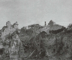 ruins of benedictine monastery monte cassino may 18, 1944