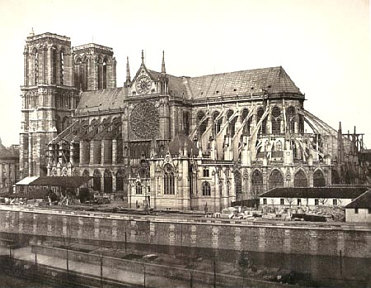 Picture of Notre Dame Cathedral in Paris France