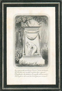 French Funeral Card