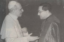 His Holiness, Pope Pius XII with His hand-picked Successor Cardinal Siri
