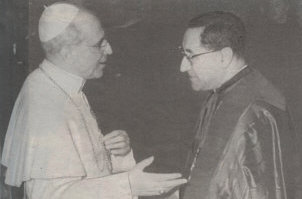 Pope Pius XII with his hand-picked successor Cardinal Siri 1958