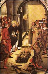 St. Dominick Burning the Books of Heretics